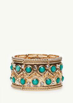 Bejeweled Chevron Cuff | Accessories | rue21