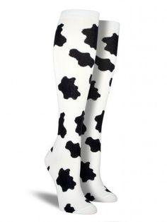 Cow Print Knee High Socks