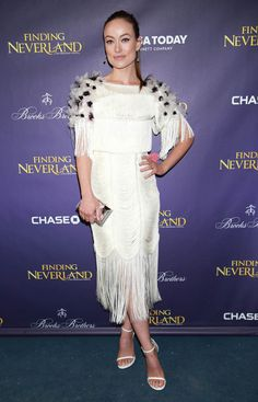 Olivia Wilde in Marchesa at the premiere of Finding Neverland
