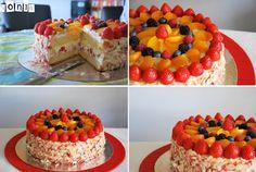 Pastel de fresas y mascarpone