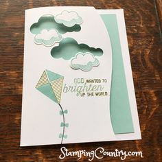 March Kite Month, Handmade Card, Swirly Bird, Stampin' Up! Cards, Lift Me Up