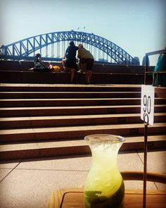 Apple lychee mojito. Sydney harbour bridge. And the lady love. Summed up the saturday lunch. #sydneyharbourbridge #operabar #operahouse #summer #australia by yaechorand http://ift.tt/1NRMbNv