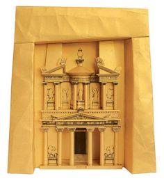 Petra Treasury Paper Model by Paperlandmarks on Etsy, $29.00