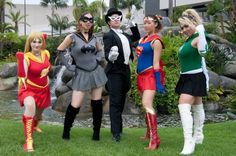 Justice League/Sailor Moon cosplay mashup. I love Sailor Batman!