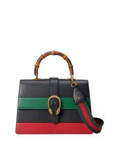Gucci Dionysus Striped Bamboo Top-Handle Bag