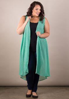 Plus Size Tops | Terri Chiffon Duster | Swakdesigns.com