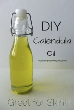 How to make #DIY calendula oil for natural #skincare especially dry, irritated skin
