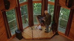 I want my new house to have some sort of raised platform -- Jerry Read Smith is a musical instrument craftsman based in Black Mountain, N., near Asheville. He specializes in hammered dulcimers and has made more than Dulcimer Music, Hammered Dulcimer, Black Mountain, Blue Ridge Mountains, Asheville, Small Towns, Craftsman, Roots, New Homes