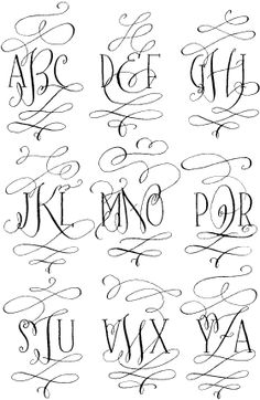 monogram dingbat