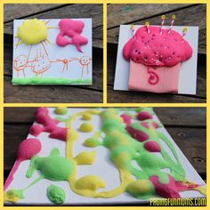 DIY Foam Paint with shaving foam and glue