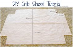 Blissfully Ever After: DIY crib and toddler bed sheet {a Tutorial}