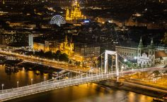 Erzsébet híd - a fény és árnyék kettőssége