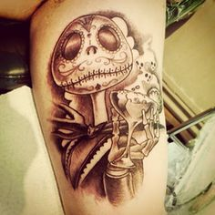 #ouch #innerarm #tattoo #tattooed #traditional #neotraditional #neo #nightmarebeforethecristmas #movietattoo #inked