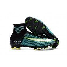 finest selection d8208 19736 Botas De Futbol Nike Mercurial Superfly V Light Aqua FG Verde Negro Blanco  Volt