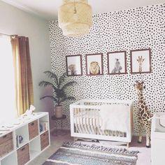 Black and White Boho Safari Nursery with Ikea Light . Black and White Boho Safari Nursery with Ikea Light . Safari Theme Nursery, Baby Nursery Decor, Baby Decor, Project Nursery, Safari Bedroom, Ikea Nursery, Giraffe Nursery, Polka Dot Nursery, Animal Print Nursery
