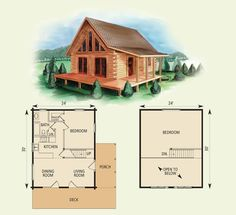 tiny log cabin floor plan - Cabin Floor Plans