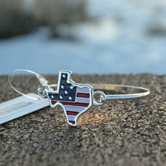 Texas American Flag Bracelet Bangle New with tag Texas Bracelet with American Flag Design. Hook clasp closure for easy fit. Twang Boutique  Jewelry Bracelets