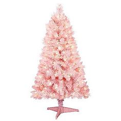 Trim A Home 4 5ft Pink Cashmere Christmas Tree With Clear Lights