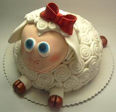 Cute sheep cake