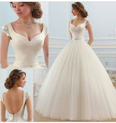 VestidoVestidoAMAURIO princess style wedding dress with romantic and transparent neckline. Image of Rebeca discovered. Discover (and save) your own photos and videos We Heart ItCorte in A / Prin Princess Style Wedding Dresses, Dream Wedding Dresses, Bridal Dresses, Wedding Gowns, Ivory Wedding, Tulle Wedding, Wedding Attire, Beautiful Dresses, Marie