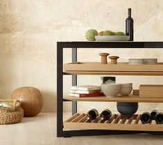 Create customized pieces with shelf variants: oak grid, solid oak shelf board and oak pull-out Dream Home Design, Home Interior Design, Room Interior, Shelf Board, House Furniture Design, Kitchen Organisation, Oak Shelves, Space Interiors, Kitchen Living