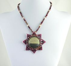 After the Rain  Jasper Pendant Necklace and by LuxVivensFashion, $225.00