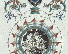 Decorative panel from the 18th century french manufacture Reveilon.