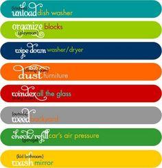 Printables for Chore Sticks