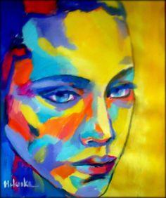 "Saatchi Art Artist Helena Wierzbicki; Painting, ""Pensive woman"" #art"