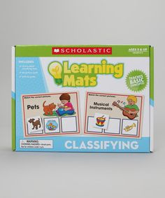 Little ones will love learning about classifying objects when this entertaining set is added to their curriculum. It allows small scholars to explore using hands-on methods which reinforce ideas and help make education entertaining while strengthening their vocabulary and visual acuity.