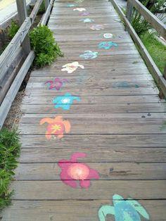 Sea turtle walkway