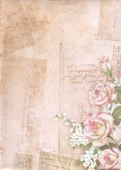 Papel Vintage, Vintage Tags, Vintage Paper, Background Vintage, Paper Background, Scrapbook Journal, Scrapbook Paper, Decoupage Paper, Flower Backgrounds