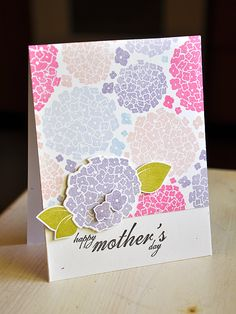 Happy Mother's Day Hydrangea Card by Maile Belles for Papertrey Ink (May 2012)
