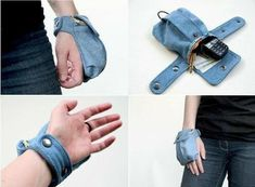 20 Easy Sewing Projects for Beginners - Amately Sewing Hacks, Sewing Crafts, Sewing Tips, Sewing Ideas, Artisanats Denim, Diy Sac, Denim Crafts, Recycle Jeans, Hip Bag