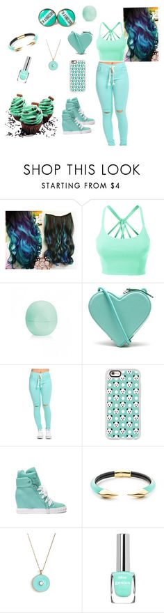 """""""Untitled #97"""" by swag345 ❤ liked on Polyvore featuring LE3NO, Eos, Christopher Kane, Casetify, Casadei, Alexis Bittar and Kate Spade"""
