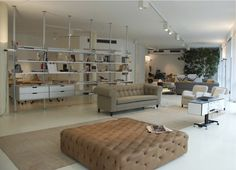 DePadova Showroom-Italy. Pouf Capitonne & Chesterfield Sofa available at SUITE New York.