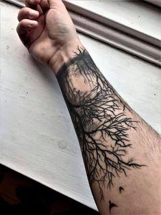 Dead forrest (backside) Done by Ruben at Death or Glory, Cop.- Dead forrest (backside) Done by Ruben at Death or Glory, Copenhagen. : tattoos Dead forrest (backside) Done by Ruben at Death or Glory, Copenhagen. Forest Tattoo Sleeve, Forest Forearm Tattoo, Tree Tattoo Arm, Nature Tattoo Sleeve, Best Sleeve Tattoos, Forearm Tattoo Men, Body Art Tattoos, Nerd Tattoos, Dead Tree Tattoo