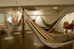 Hammock cafe in Japan. Note to self: need more hammocks for the office...