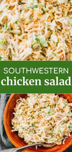 An easy and simple recipe for a savory Southwest Keto Chicken Salad. It is slightly spicy, made with shredded or rotisserie chicken, cheese, and chiles. You can enjoy this salad by itself or in a low carb tortilla wrap. This is a healthy salad but no one will be able to tell it is low carb. #lowcarb #keto
