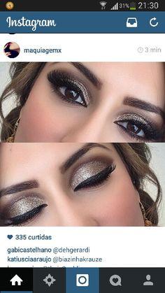 glitter gold make up