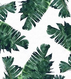 Banana leaf watercolor ⊳ pattern
