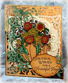 Stamps - Our Daily Bread Designs ODBD Custom Pumpkin and Flowers Die, ODBD Custom Fancy Foliage Dies, ODBD Custom Decorative Corners Dies, O...