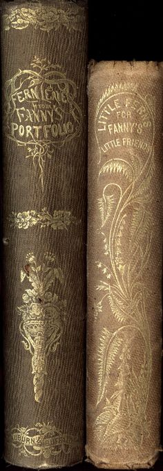 Fern Leaves from Fanny's Portfolio 1853 and Little Ferns for Fanny's Little Friends 1854 Fanny Fern (Sara Payson Willis) Vintage Book Covers, Vintage Books, Old Books, Antique Books, Book Cover Art, Book Art, Fiction Quotes, Book Spine, Old Libraries