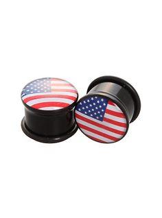 American Flag Plugs 2 Pack | Hot Topic