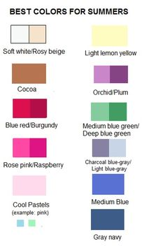 the best colors for summer
