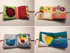 20 x 20 cm 16 Seiten(14 Bildseiten+2 Tittelseiten) Filz und Baumwolle von 3 bis 6 Jahre Handmade  Es ist möglich verschiedene Seiten zu kombinieren um ein neues Buch zu machen. Sie können...