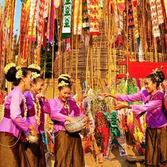 Songkran Water Festival, Happy Thai New Year April 13-15, 2017