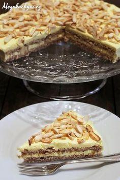 dort krále Oscara Archives - Meg v kuchyni Baking Recipes, Cookie Recipes, Snack Recipes, Dessert Recipes, Sweet Desserts, Sweet Recipes, Kolaci I Torte, Czech Recipes, Almond Cakes
