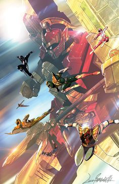 Power Rangers Fan Art, Power Rangers Comic, Power Rengers, Mighty Morphin Power Rangers, Robot Art, Funny Art, Kamen Rider, Super Powers, Character Art