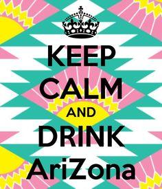 Arizona Teas and juices <3
